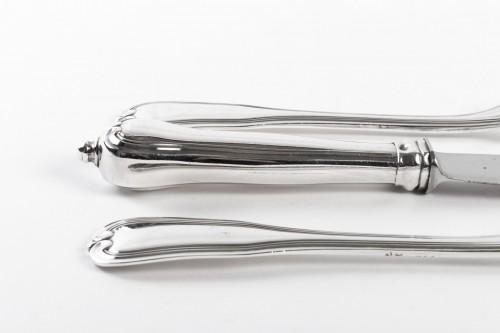 Antiquités - PUIFORCAT Cutlery set in sterling silver 180 pieces CHOISEUL