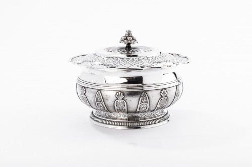 CARDEILHAC - box in silver and vermeil late 19th century - Antique Silver Style Napoléon III