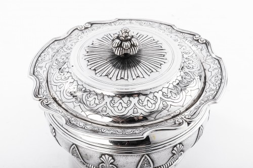 Antique Silver  - CARDEILHAC - box in silver and vermeil late 19th century