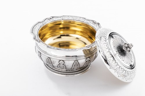 CARDEILHAC - box in silver and vermeil late 19th century -