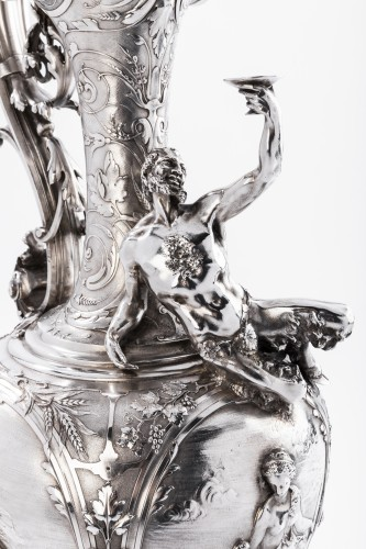 Napoléon III -  ODIOT SILVERSMITH IN PARIS  - Exceptional EWER in solid silver XIXth