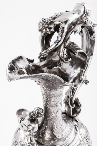 Antiquités -  ODIOT SILVERSMITH IN PARIS  - Exceptional EWER in solid silver XIXth