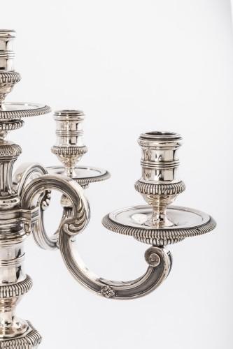 Antique Silver  - BOINTABURET - Pair of candelabra in sterling silver