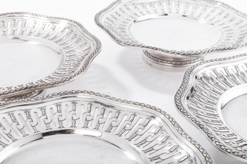 Goldsmith A. AUCOC Suite of four 19th silver cups -