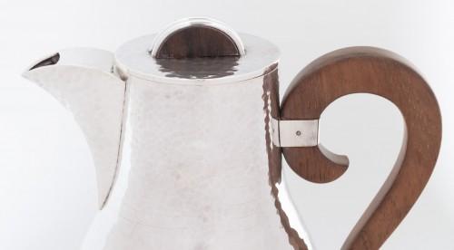 Goldsmith JEAN DESPRES - Sterling silver jug ??hammered twentieth 1940 - Antique Silver Style Art Déco