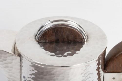 20th century -  Goldsmith JEAN DESPRES - Sterling silver jug ??hammered twentieth 1940