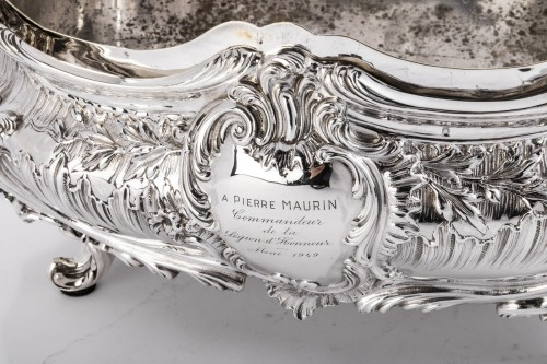 Antique Silver  - Goldsmith Armand GROSS - Rockery planter in solid silver 19th