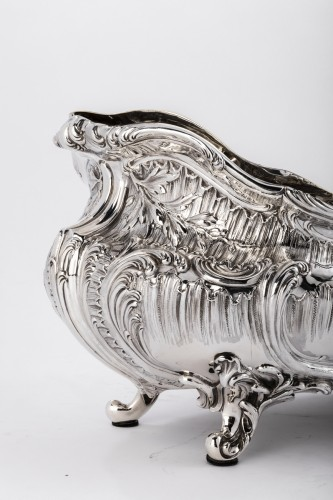 Napoléon III - Goldsmith Armand GROSS - Rockery planter in solid silver 19th