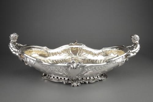 Orfèvre FROMENT-MEURICE, PARIS - Centerpiece solid silver  XIXe - Antique Silver Style Napoléon III