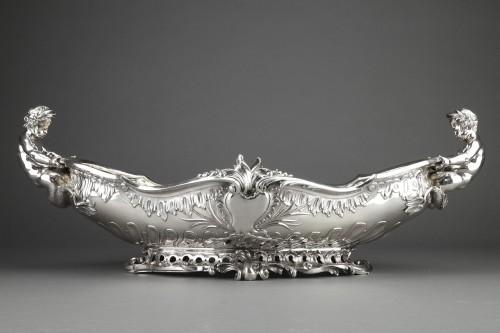 Antique Silver  - Orfèvre FROMENT-MEURICE, PARIS - Centerpiece solid silver  XIXe