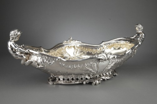 Antiquités - Orfèvre FROMENT-MEURICE, PARIS - Centerpiece solid silver  XIXe