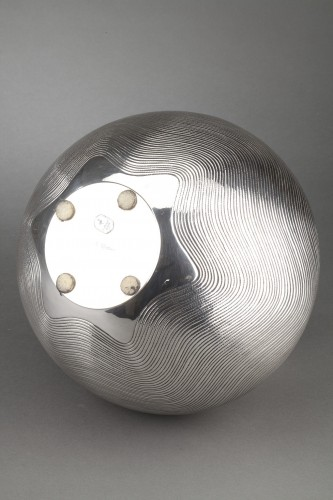 Antiquités -  Goldsmith CALLEGARI Gioielli - 20th century solid silver vase