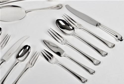 Puiforcat - Solid silver 158 pieces circa 1930 mazarin - Antique Silver Style Art Déco