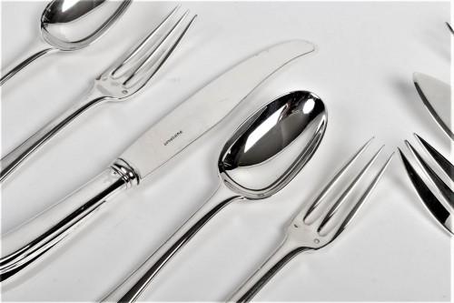 Puiforcat - Solid silver 158 pieces circa 1930 mazarin -