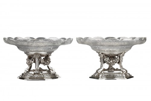 Goldsmith BOIN TABURET - Pair of cups in solid silver