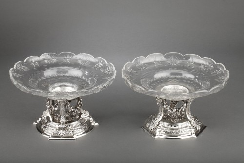 Antique Silver  - Goldsmith BOIN TABURET - Pair of cups in solid silver