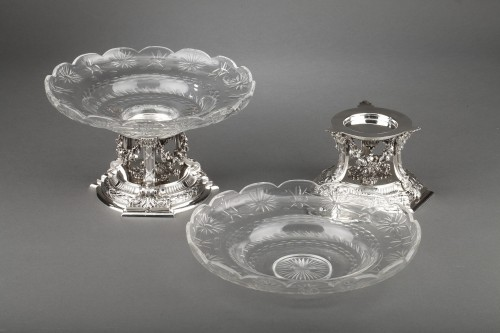 Goldsmith BOIN TABURET - Pair of cups in solid silver  - Napoléon III
