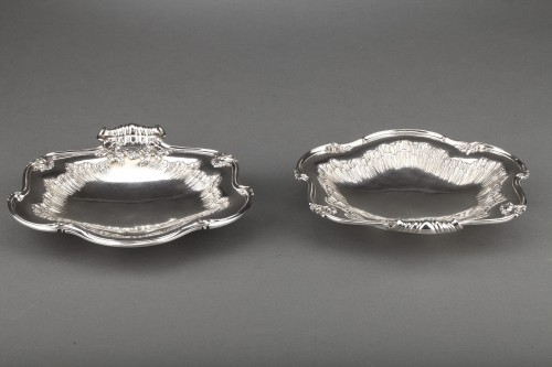 Goldsmith BOINTABURET - Pair of solid silver displays from the late 19th ce - Antique Silver Style Napoléon III
