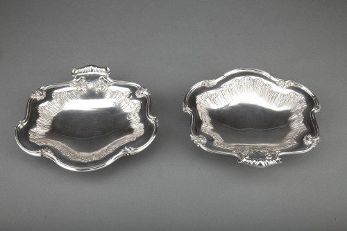 Antique Silver  - Goldsmith BOINTABURET - Pair of solid silver displays from the late 19th ce