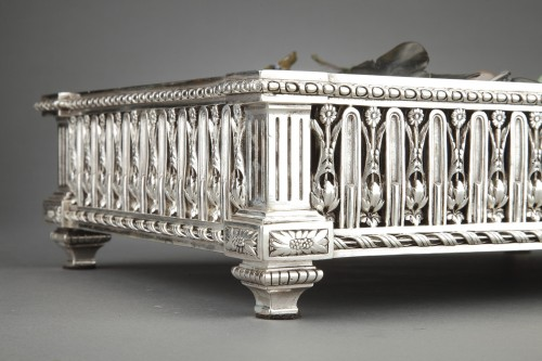 Goldsmith Christofle - 19th century silvered bronze planter - Napoléon III