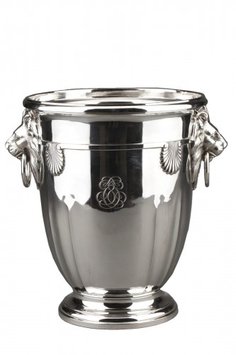 Goldsmith ROUSSEL - 19th century solid silver cooler