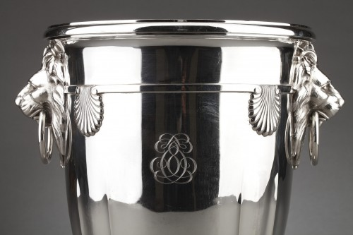 Goldsmith ROUSSEL - 19th century solid silver cooler - Antique Silver Style Napoléon III