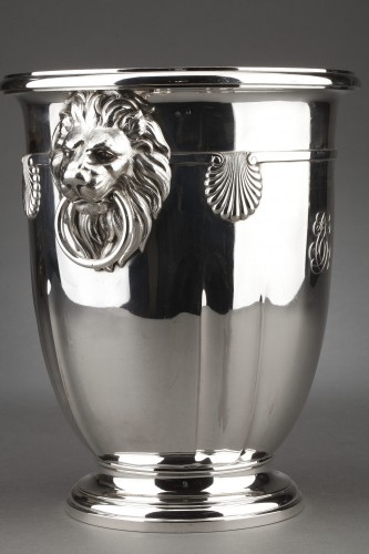 19th century - Goldsmith ROUSSEL - 19th century solid silver cooler