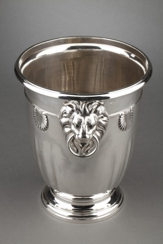 Goldsmith ROUSSEL - 19th century solid silver cooler - Napoléon III