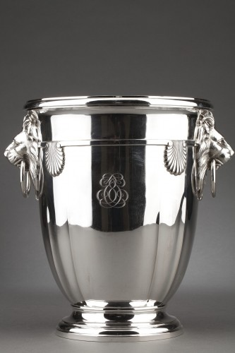Antiquités - Goldsmith ROUSSEL - 19th century solid silver cooler