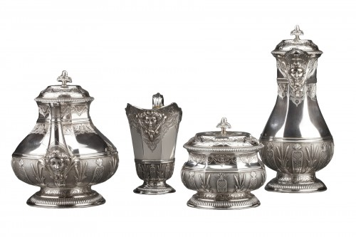 CARDEILHAC -19th century  tea coffee service in sterling silver