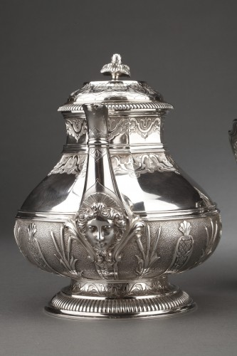 Antique Silver  - CARDEILHAC -19th century  tea coffee service in sterling silver