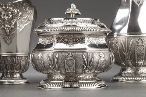 19th century - CARDEILHAC -19th century  tea coffee service in sterling silver