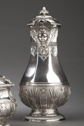 CARDEILHAC -19th century  tea coffee service in sterling silver - Napoléon III