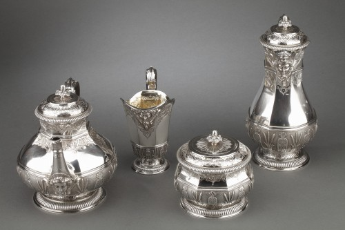 Antiquités - CARDEILHAC -19th century  tea coffee service in sterling silver