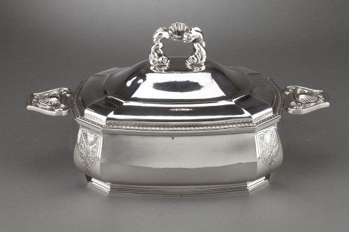 Goldsmith BANCELIN -Soup tureen in solid silver circa 1950/1960 - Antique Silver Style 50