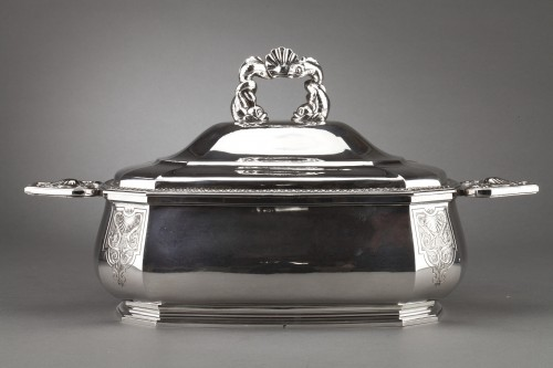 Antique Silver  - Goldsmith BANCELIN -Soup tureen in solid silver circa 1950/1960