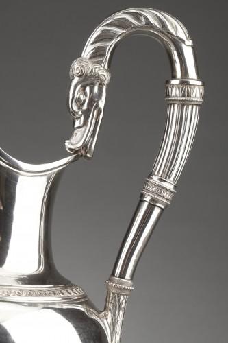 Empire - Goldsmith Antoine Michel - Ewer in sterling silver 1st Empire period