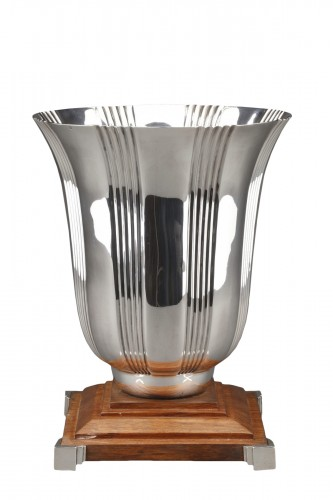 Goldsmith LAPPARRA - Sterling silver vase Art déco period