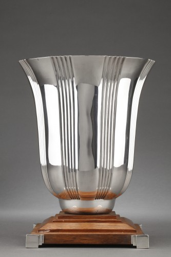 Goldsmith LAPPARRA - Sterling silver vase Art déco period -