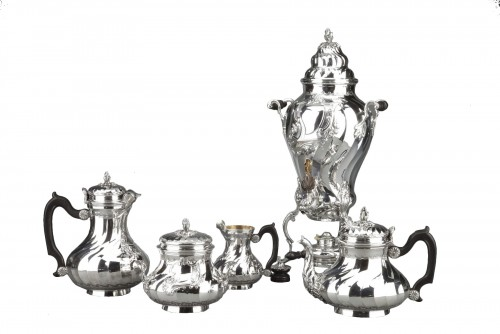 Goldsmith BOIN TABURET - Tea / Coffee service 4 pieces in solid silver plus