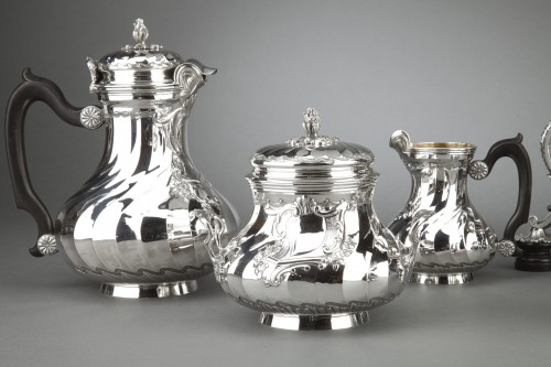 Antique Silver  - Goldsmith BOIN TABURET - Tea / Coffee service 4 pieces in solid silver plus
