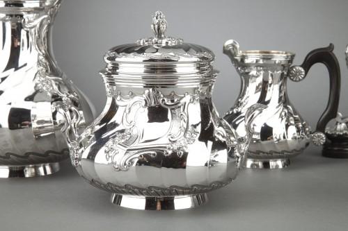 19th century - Goldsmith BOIN TABURET - Tea / Coffee service 4 pieces in solid silver plus