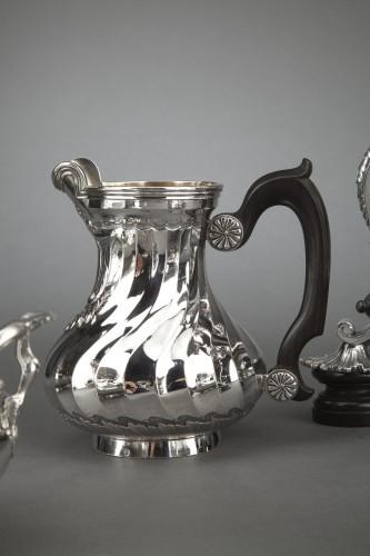 Napoléon III - Goldsmith BOIN TABURET - Tea / Coffee service 4 pieces in solid silver plus