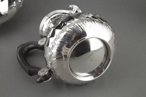 Antiquités - Goldsmith BOIN TABURET - Tea / Coffee service 4 pieces in solid silver plus