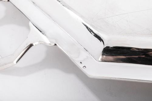 20th century - Goldsmith BLOCH ESCHWEGE - Rectangular solid silver tray Art deco