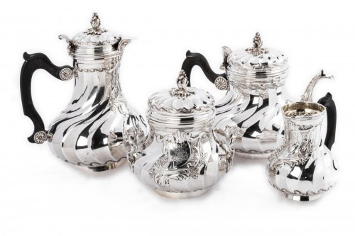 Goldsmith BOINTABURET - 4-piece tea / coffee service in 19th sterling silver