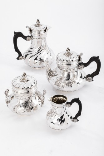 Antique Silver  - Goldsmith BOINTABURET - 4-piece tea / coffee service in 19th sterling silver