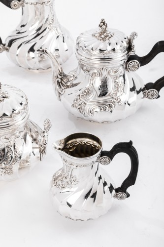 Goldsmith BOINTABURET - 4-piece tea / coffee service in 19th sterling silver -