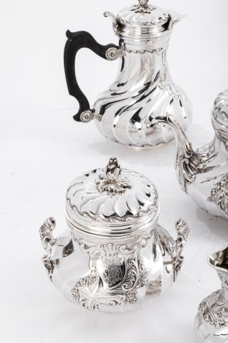 19th century - Goldsmith BOINTABURET - 4-piece tea / coffee service in 19th sterling silver