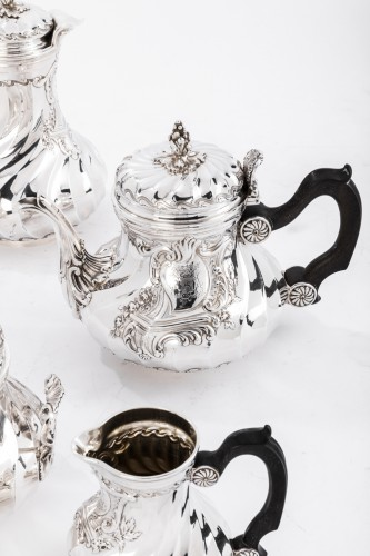 Goldsmith BOINTABURET - 4-piece tea / coffee service in 19th sterling silver - Napoléon III